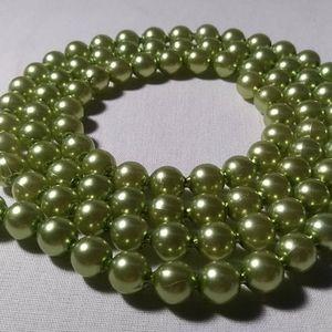 Pop Beads Green Shiny Vintage